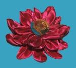 first-attempt-kanzashi-flower-with-button-center-best-on-blue
