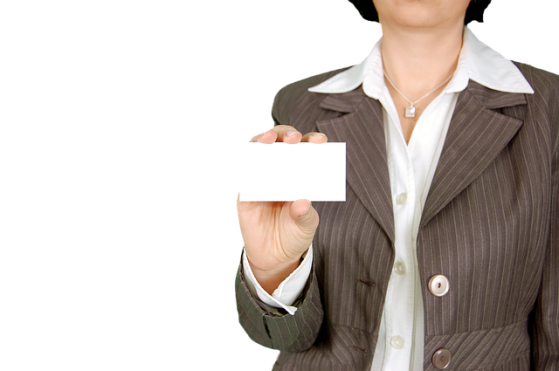 Corporate- blank business card