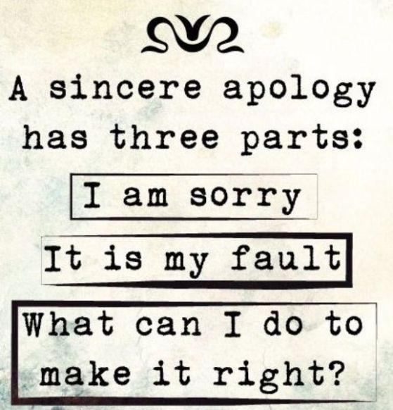 A True Apology - Make It Right
