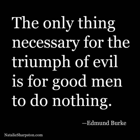 Good People Doing Nothing Allow Evil